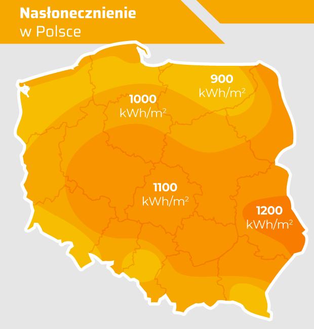 Nasłonecznienie w Polsce - fotowoltaika